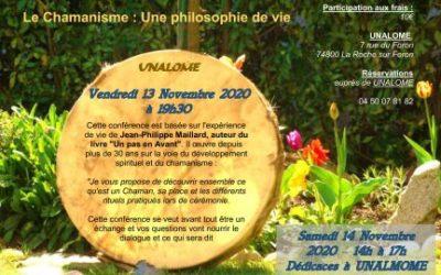 Conférence & Dédicaces à UNALOME – Novembre 2020